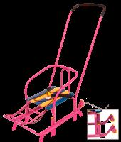 Санки детские Тимка Т3+ плоские полозья 30 мм ручка два положения с колесом Ника - Оптовая продажа товаров для дома - ООО МАРКИК, Екатеринбург