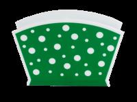 Салфетница Горошек бело-зеленый Альтернатива - Оптовая продажа товаров для дома - ООО МАРКИК, Екатеринбург